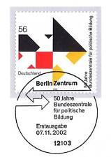 BRD 2002: Politische Bildung Nr. 2287 mit Berliner Ersttags-Sonderstempel! 1A!