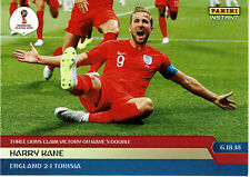 2018 HARRY KANE 3 LIONS CLAIM VICTORY ON DOUBLE PANINI INSTANT WORLD CUP CARD 45