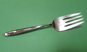 . Reed and Barton Sculpture Sterling Silver Cold Meat Serving Fork