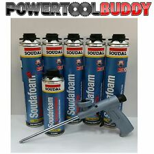 Schiuma PU espansione Kit-5 SOUDAL 750 ML Gun & Gun Cleaner 500ml*DPD*