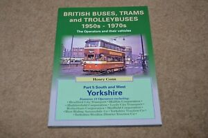 BRITISH BUSES TRAMS & TROLLEYBUSES 1950s - 70s South & West Yorkshire