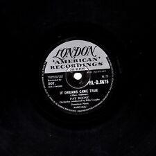 "UK 1958 #16 PAT BOONE 78 ""se sogni venne True"" London HL-D 8675 EX"