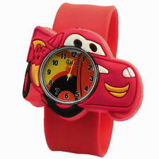 CAR Slap Snap On Sport Quartz Wrist Watch Super Heroes Kid Party Favor