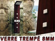 669 Verre Panneau colonne de douche , Wengé , Pommeau de douche mobile, NEUF
