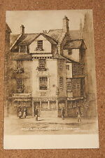 Vintage Postcard: House in which John Knox Died, Edinburgh, Scotland