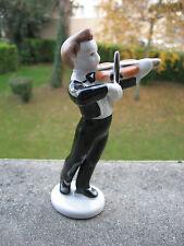Très belle figurine en porcelaine Allemande Hollandaise violoniste violon ancien