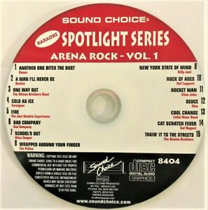 SOUND CHOICE KARAOKE SPOTLIGHT CD+G - 8404 - ARENA ROCK - VOL 1 - CDG
