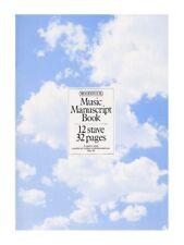 WOODSTOCK MUSIC MANOSCRITTO CARTA 12 DOGA 32 pagine A4 cucito LIBRO MUSICA