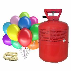 Helium Ballongas Luftballons für 30 oder 50 Ballons Heliumflasche Ballons Bänder