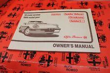 Alfa Romeo Spider 1988 Owner's Manual - Nos