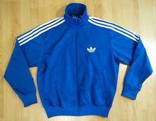 Adidas Men Jacket M Trefoil Embroidered Logo Track Running Jogging Full Zip Coat