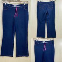 Pajama bootleg Jeans Womens Size Large 34x32 :)