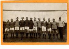 Real Photo Postcard RPPC - Sports Soccer Team at Net