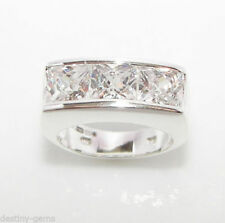 Cushion Simulated Sterling Silver Fine Diamond Rings