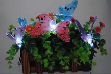 Fiber Optic Butterfly String Lights 10 Butterflies Night Light Room Party Decor