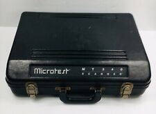 Microtest Mt340 Handheld Cable Tester Scanner Super Injector Case Amp Adapter