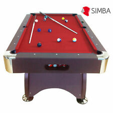 Simba 7ft Pool Table Billiard - Red Devil