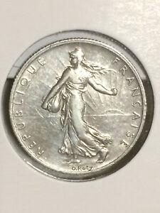 2 francs 1908 Semeuse argent