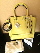b72ede24d5 NWT COACH 48894 Mini Tanner Leather Crossbody Satchel Purse Yellow Handbag