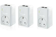 TP-Link AV600 2 Port Powerline Gaming TV Adapter AC Pass Through TL-PA4020P X 3