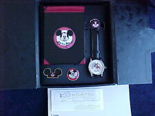 MICKEY MOUSE CLUB WATCH AND PINS FOR JAPAN DISNEY STORE , MINT NEVER WORN