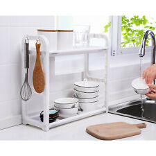 2-Tier Under Sink Cabinet Shelf Organizer Rack Kitchen Bathroom Storage Tool US