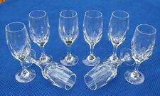 NACHTMANN 8 Gläser Sherry Alexandria Kristall Glas Kristallglas Schälschliff