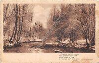 Cartolina - Postcard - Paesaggio con fiume - Poesia D'Annunzio - 1918 - censura