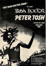 2/12/78PN21 Advert: Peter Tosh The Album 'bush Doctor' & Tour Dates 15x11