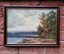 Landschaft am Chiemsee orig. altes Ölgemälde,  K. RICHTER (BERLIN *1887-1948
