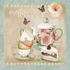 20 las servilletas de papel deliciosa decoración Vintage Tetera Cocina Decoupage 33x33cm