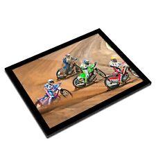A3 Glass Frame - Speedway Track Bike Biker Art Gift #2759