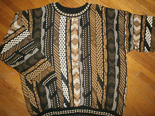 ALEXANDER LLOYD COSBY SWEATER Geometric Knit Party Ugly vtg 90s Urban Hip Hop