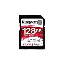 Kingston Canvas React (128GB) Class 10 UHS-1 U3 SDXC Memory Card