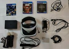 Bundle Sony PS4 VR PSVR Headset + Camera + 2 PS Move Controllers + 3 Games