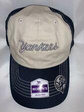 Authentic MLB Women's NY New York Yankees Slide Calligraphy Hat NWT