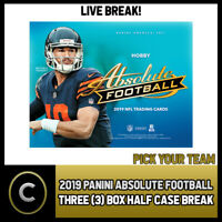 2019 PANINI ABSOLUTE FOOTBALL 3 BOX (1/2 CASE) BREAK #F296 - PICK YOUR TEAM