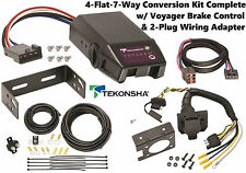 2009-2011 FORD FLEX TEKONSHA 4FLAT-7WAY CONVERSION W/ VOYAGER BRAKE CONTROL NEW