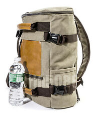 MG8536 Military Style Cotton Canvas Backpack School Bag, Suitcase,Hiking etc