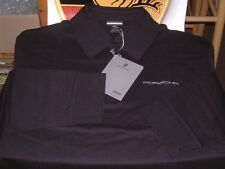 PORSCHE DESIGN NOS BLACK LONG SLEEVED POLO SHIRT USA:SIZE XXL = EURO 3XL. NIBWT
