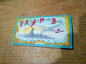 """ORIGINAL WWI """"THE ARMY AND NAVY NEEDLE BOOK"""" WITH NEEDLES & SILVER STEEL"""