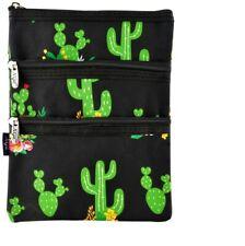 Cactus Garden Quilted Crossbody Bag for Men and Women