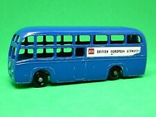 Matchbox Lesney No.58a AEC BEA Coach (RARE BLACK PLASTIC WHEELS)