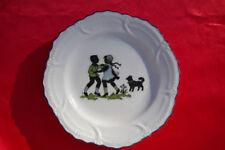 Vintage Germany plate Eskie German spitz dog Plays! Pomeranian Eskimo Samoyed *