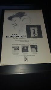 Lou Donaldson Mr. Shing-A-Ling Rare Original Promo Poster Ad Framed!