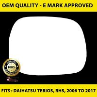 Daihatsu Terios (2006 to 2017 ) Wing Mirror Glass RIGHT HAND ( UK Driver Side )