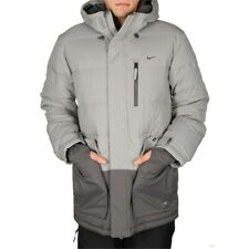 2013 NWOT MENS NIKE PROOST DOWN SNOWBOARD JACKET $290 L Grey sb storm fit