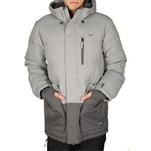 NWOT MENS NIKE PROOST DOWN SNOWBOARD JACKET $290 L Grey sb storm fit