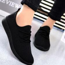 Womens Fashion Flats Sports Breathable Casual Sneakers Running Light Shoes Size