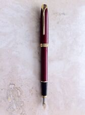 CROSS PINNACLE BORDEAUX LACQUER FOUNTAIN PEN – MED NIB - NEW - NEVER BEEN INKED